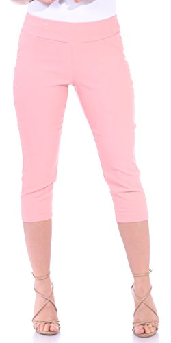 (One5One Women's Shaping Stretch Pull On Dress Capri Pants Miracle Ab Shaper Rose Large (12-14))