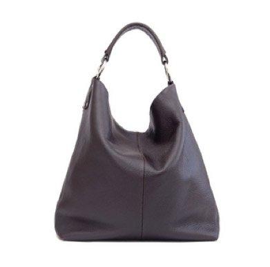 BACCINI bolso de hombro ELISA: cartera con asa larga para mujer GRANDE - bandolera de cuero marrón - (38 x 40 x 7cm)