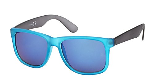 Lunettes bleue miroir monture 7831 estivale homme bleu et verre miroir qwqHOBR