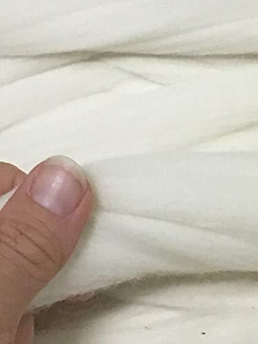 Craft Wool Yarn (Shep's Natural White Merino Wool Top Roving Fiber Spinning, Felting Crafts USA (4lb))