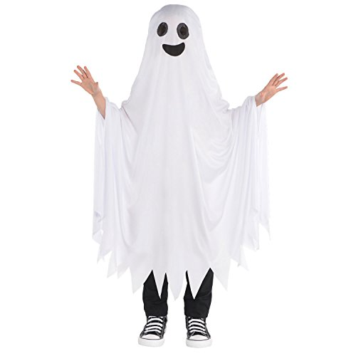 Ghosts Halloween Costumes (AMSCAN Boo Ghost Halloween Costume for Kids, One)