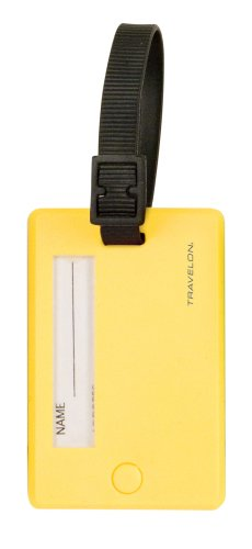 Yellow Neon Luggage Tag (Travelon Set Of 2 Luggage Tags, Neon Yellow, One Size)
