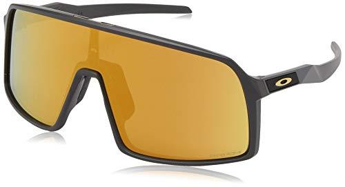 Oakley Men's OO9406 Sutro Shield Sunglasses, Matte Carbon/Prizm 24K, 37 ()