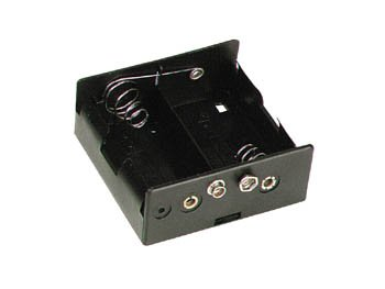 Velleman BH121B Battery Holder for 2 x D-Cell with Snap Terminals, 1 Grade to 12 Grade