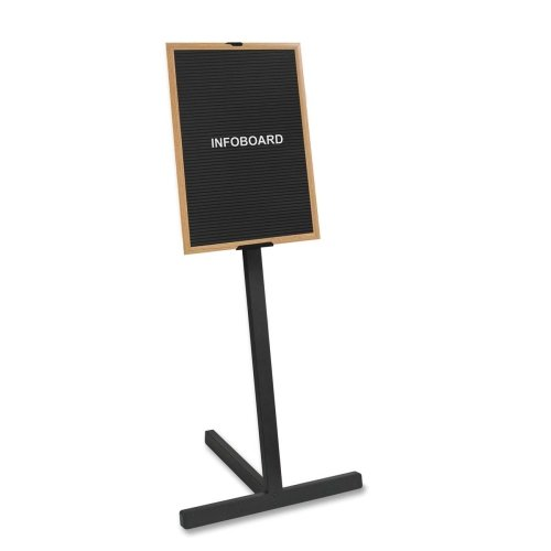 "New Bi-silque Beechwood Standing Letter Board-Standing Letter Board,2'x3' Board,63"" H,Beechwood Frame/BK free shipping"