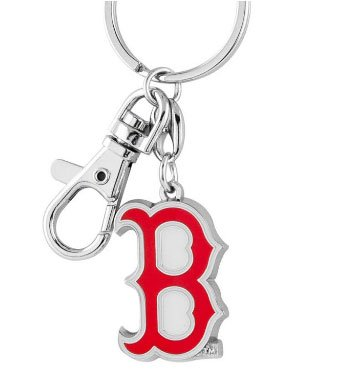 - Boston Red Sox Heavy Brass Logo Key Chain