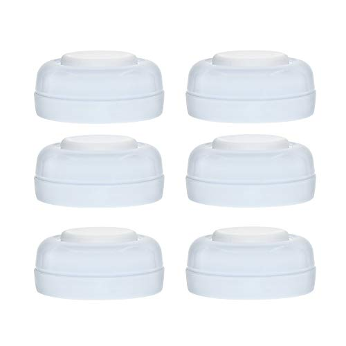 Maymom Screw Lids Aka Travel Caps with Rewritable Sealing Disc for Avent, Maymom Wide Mouth Bottles; Cap Replace Avent Natural Bottle Sealing Ring and Sealing Disc,6pcs/1set. ()