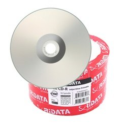 Ridata 52X 80-Min Silver Inkjet Hub/Silver CD-R's 600-Pak Shrinkwrap