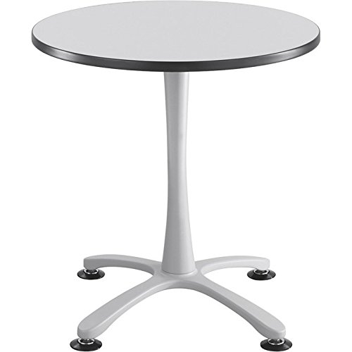Safco Cha-Cha 30in. Round Sitting-Height Table with X-Style Base - Gray/Silver, Model# 2470GRSL