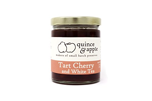 Tart Cherry and White Tea preserves from Quince and Apple - 6 oz - Handmade in Wisconsin, Artisan, All Natural, GMO-Free ()