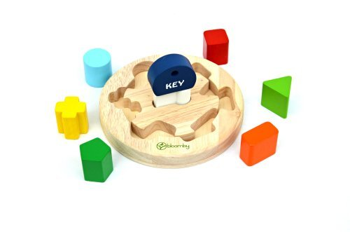 Bloomby Unlock Turn and Learn Shape Sorter Wooden Educational Toys