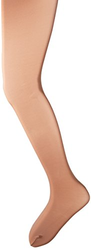 Capezio Little Girls' Ultra Soft Self Knit Waistband Footed Tight, Suntan, One Size (Toddler 2-6) (Capezio Tights Dance Tan)