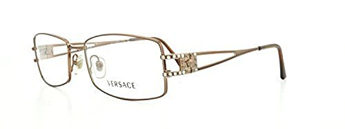 Versace Women's VE1092B Eyeglasses Light Brown 53mm & Cleaning Kit Bundle by Versace