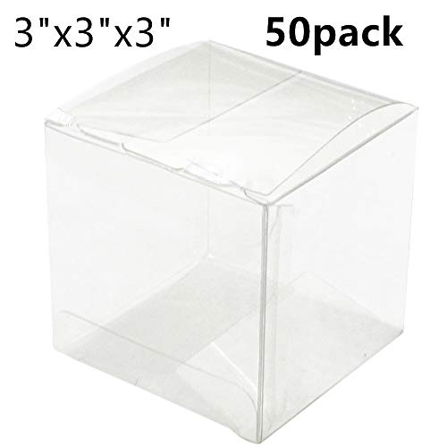Crystal Clear Boxes - 50 Pack 3 x 3 x 3