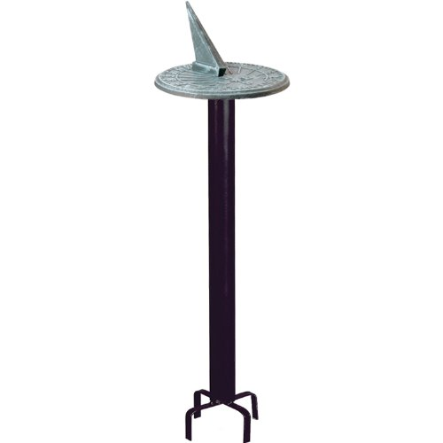 - Rome B80 Black Classic Sundial Pedestal Base, Wrought Iron with Black Powder Coat, 24-Inch Height
