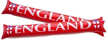 PARTYRama Inglaterra - Hinchable Ruido Clapper Sticks - PMS