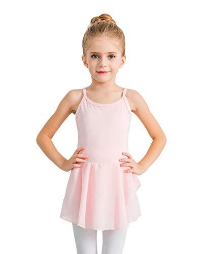 STELLE Girl's Camisole Dress Leotard for Dance, Gymnastics and Ballet(Toddler/Little Girl/Big Girl)(XS, Ballet Pink) from STELLE
