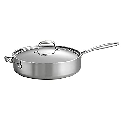 Tramontina Gourmet Tri-Ply Clad Covered Deep saute Pan