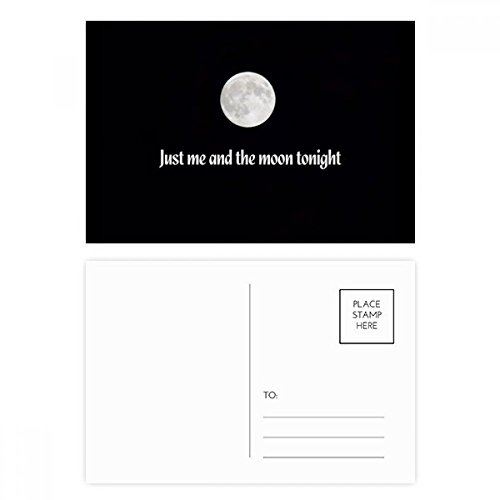 Me And Moon Photo Art Postcard Set Birthday Thanks Card Mailing Side 20pcs (Postcard Art Photo)