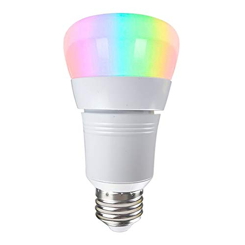 LAKES WiFi Smart LED Bulb, Dimmable Multicolor Light, E26 Base, 7W (60W Incandescent Equivalent), Compatible with Alexa, Google Home Assistant, 1-Pack