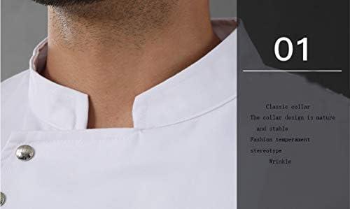 Casaca Cocina Uniforme Bar Restaurante De Chef Cocinero Bar Restaurante Mangas Largas Absorción De Humedad Uniforme De Chef,Blanco,M: Amazon.es: Hogar