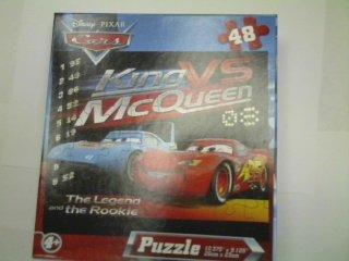 Disney Pixar Cars 48-Piece Jigsaw Puzzle (King Vs - Mcqueen King Vs