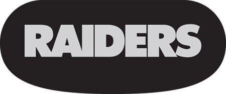 Oakland Raiders Eye Black Strips (6 Vinyl Stickers)