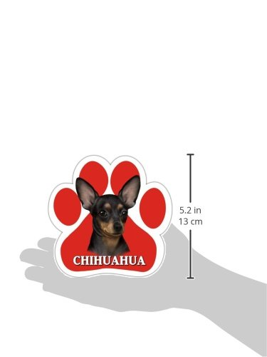 Chihuahua-Black-Car-Magnet-With-Unique-Paw-Shaped-Design-Measures-52-by-52-Inches-Covered-In-UV-Gloss-For-Weather-Protection