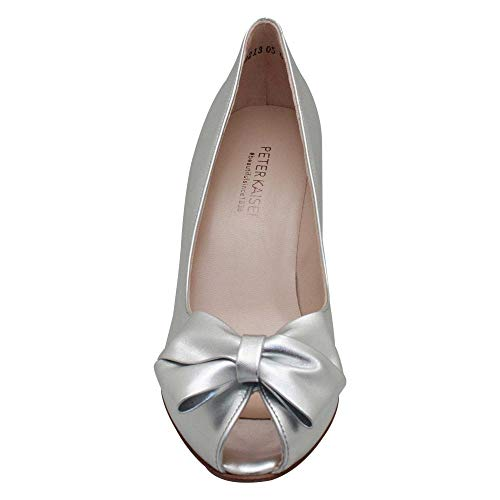 Court Metallic Kaiser High Toe Heel Shoes Peter Silver Peep pYA5xpq