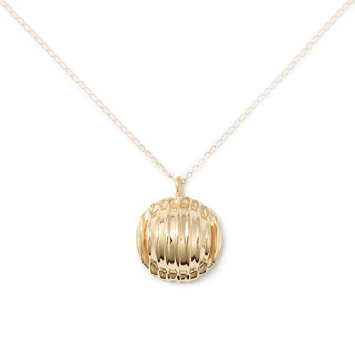 Orecchiette Pasta Necklace, 14K Yellow Gold, Foodie Jewelry