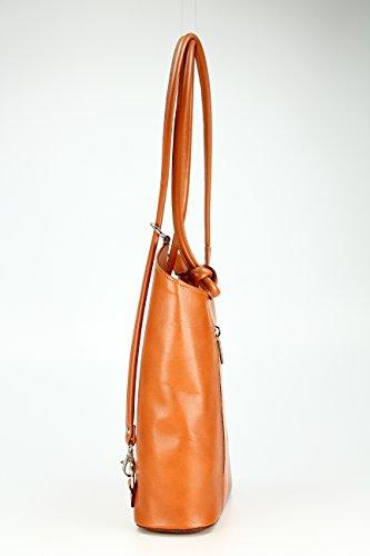 femme à H porté 28x28x8 Multicolore B Cognac Sac Multicolore Belli cm pour au Multicolore T x dos main x 0gnB5wxq6