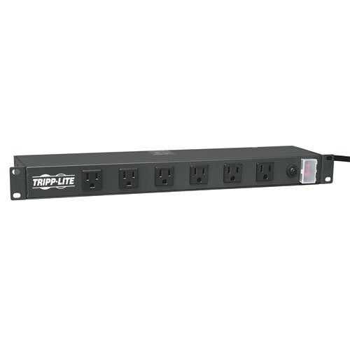 Outlets Rackmount 1u 15ft Cord - Tripp Lite 12 Right Angle Wide-Spaced Outlet Rackmount Network-Grade PDU Power Strip, 15A, 15ft Cord, 5-15P Plug (RS1215-RA) by Tripp Lite