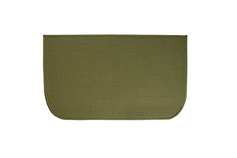 Ritz Accent, Stain Resistant Kitchen Floor Rug, with Non Slip Latex Backing, 18-inch by 30-inch, Olive - Color Door Mat