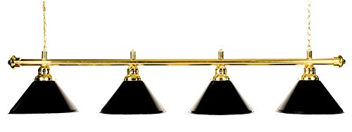 - Billiard Lamp Brass Rod Choose Burgundy , Green or Black Metal Shades (brass black) ()