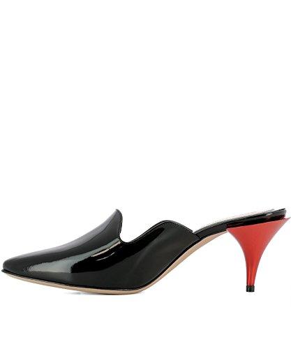 Femme McQueen Talons À 520097WHS701000 Chaussures Alexander Noir Cuir 6BWxxU