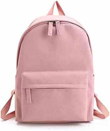 HARLAN Womens Backpack Travel Faddish Solid Color Versatile Back Bag