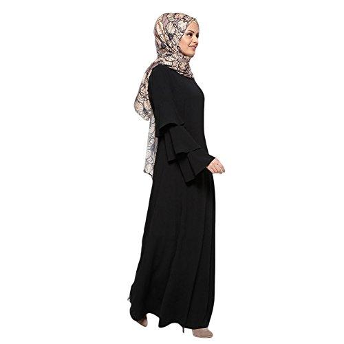 Boda Abaya de Malaysia musulmán islámico Dubai Negro Maxi Turkey Vestido Túnica noche Vestido Apparel Hzjundasi Middle Kaftán East larga Robe Manga suelta Mujer Cóctel Arab 6a4qw5Hw