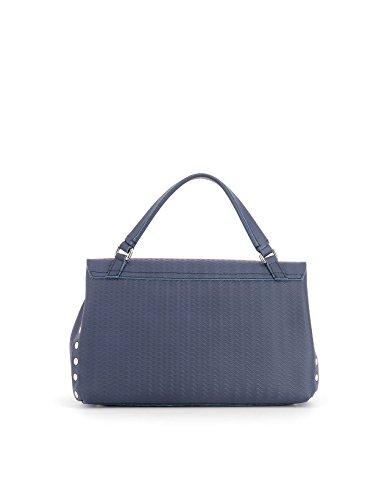 Zanellato Damen 61386035 Blau Leder Handtaschen