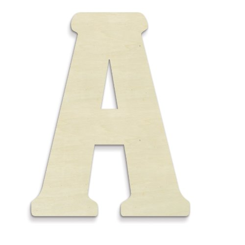 UNFINISHEDWOODCO 23-Inch Unfinished Wood Letter, Large, Letter A (Wood Oversized Letters)