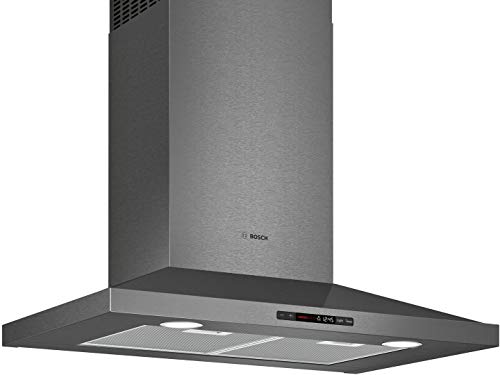 Bosch HCP80641UC 800 Series 30 Inch Wall Mount Convertible Hood with 600 CFM, in Black Stainless Steel ()