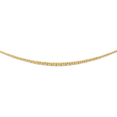 DIAMANTLY Collier or 750 en chute forcat haricot 5,6 mm 42 cm