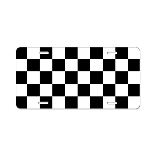 (CafePress Checkerboard Aluminum License Plate, Front License Plate, Vanity Tag)