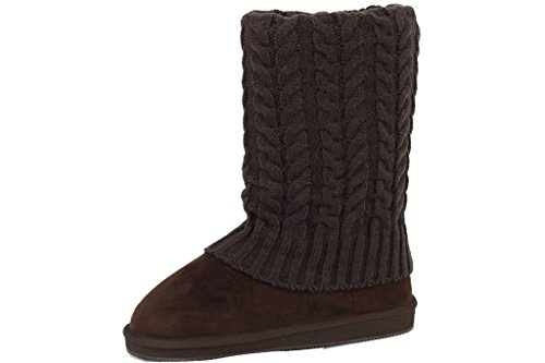 91011 Women's Suede Faux New Sunville Brown Boots Stylish 4xOZ0qU