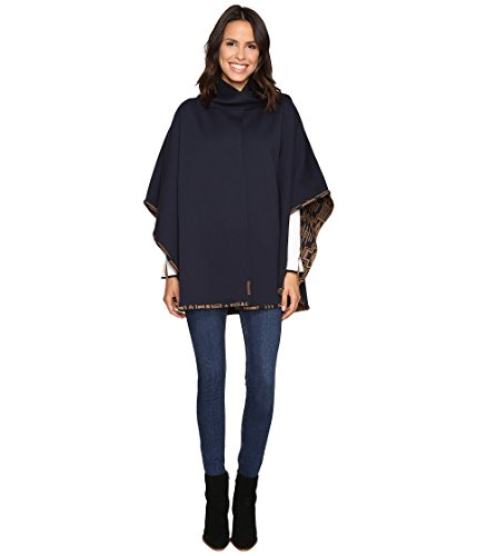 Pendleton Women's Bonded Knit Cape Harding Navy/Bronze One Size