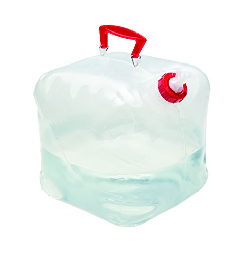 Texsport 5 Gallon Foldable Collapsible Water Carrier Container with Handle and Easy Pour Spout
