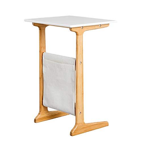 Feifei Minimalista Moderno Mesa de Centro pequeña Sofá Multifuncional Dormitorio Mesa Auxiliar Sofá de Ocio Mesa de Centro de bambú (Color : 01)