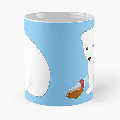 Polar Bear Anti Capitalist Cola Coke - Morning Coffee Mug Ceramic Best ()