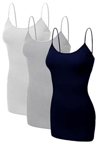 Emmalise Women's Basic Casual Long Camisole Adjustable