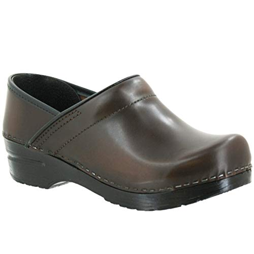 - Sanita Professional Men's Cabrio Leather Clogs (2nd) - Brown / / EU-44