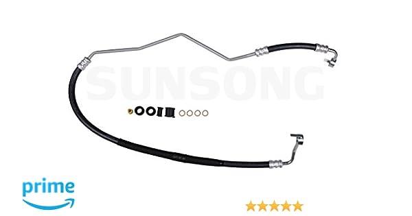 Sunsong 3402587 Power Steering Pressure Hose Assembly VW